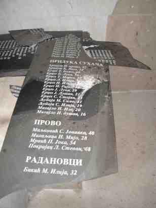 Остаци старих уништених спискова са именима страдалих
