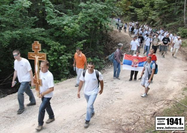 Узношење Часног Крста Мученичком стазом Јадовничком - 24.06.2012.